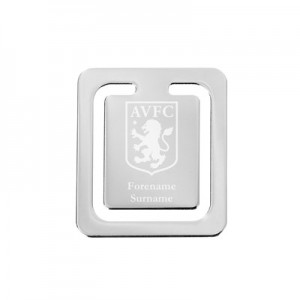 Aston Villa Personalised Crest Bookmark