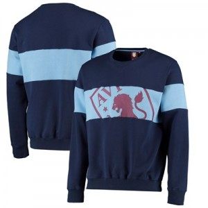 Aston Villa Cut & Sew Crew Neck Sweat - Claret - Mens
