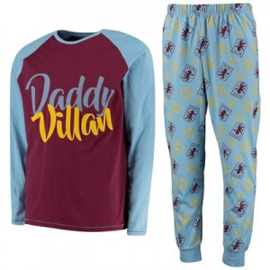 Aston Villa Daddy Villan PJ set - Blue - Mens