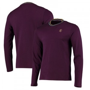 Aston Villa Iconic Long Sleeve T Shirt - Claret - Mens