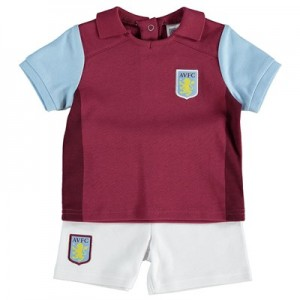 Aston Villa Kit T-Shirts and Shorts Set - Claret - Baby