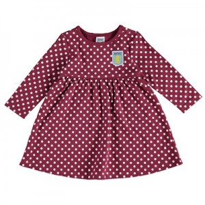 Aston Villa Polka Dot Dress - Claret - Baby