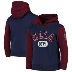 Aston Villa Over The Head Hoodie - Navy - Kids