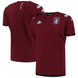 Aston Villa Home Cotton Polo - Claret