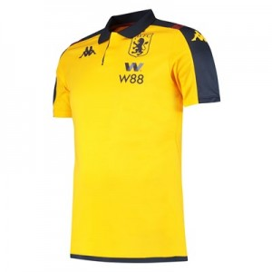 Aston Villa Poly Polo - Yellow