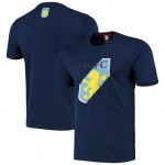 Aston Villa Split Graphic T Shirt - Navy - Mens
