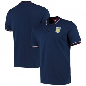Aston Villa Short Sleeve Tipped Polo - Navy - Mens