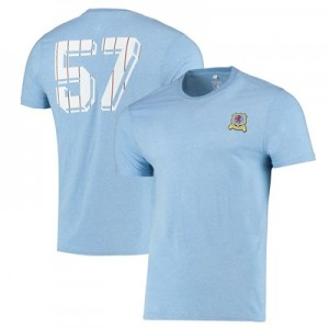 Aston Villa Retro 57 T Shirt - Sky Marl - Mens