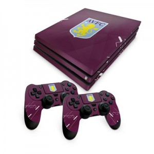 Aston Villa PS4 Pro Console and Controller Skin Set