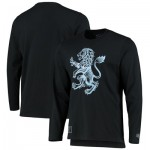 Aston Villa Heritage Long Sleeve T Shirt - Black - Mens
