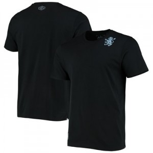 Aston Villa Heritage Short Sleeve T Shirt - Black - Mens