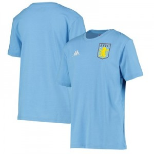 Aston Villa Training Top - Light Blue - Adults