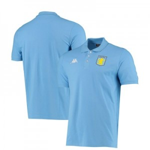 Aston Villa Poly Polo - Light Blue - Adult