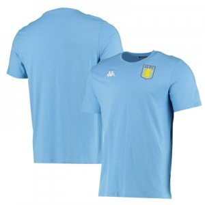 Aston Villa Crest T-Shirt - Light Blue - Adult