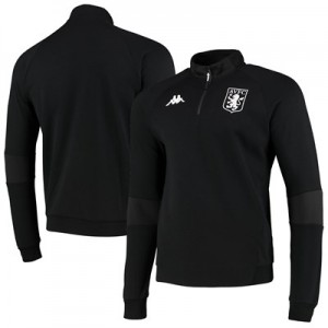 Aston Villa Forli 1/4 Zip Sweat - Black - Mens