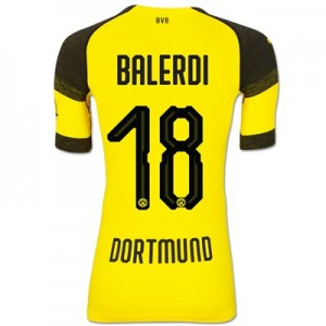 BVB Authentic evoKNIT Home Shirt 2018-19 with Balerdi 18 printing