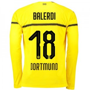 BVB Cup Home Shirt 2018-19 - Long Sleeve with Balerdi 18 printing