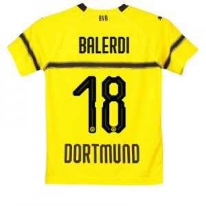 BVB Cup Home Shirt 2018-19 - Kids with Balerdi 18 printing
