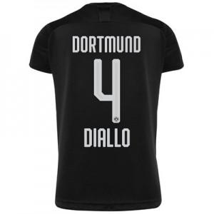 BVB Away Shirt 2019-20 - Kids with Diallo 4 printing