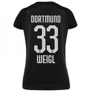 BVB Away Shirt 2019-20 - Womens with Weigl 33 printing