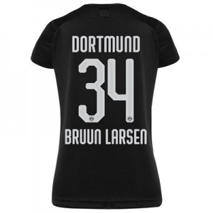 BVB Away Shirt 2019-20 - Womens with Bruun Larsen 34 printing