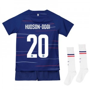 Chelsea Home Cup Stadium Kit 2018-19 - Little Kids with Hudson-Odoi 20 printing