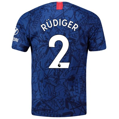 Chelsea Home Stadium Shirt 2019-20 with Rüdiger 2 printing
