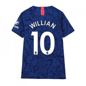 Chelsea Home Vapor Match Shirt 2019-20 - Kids with Willian 10 printing
