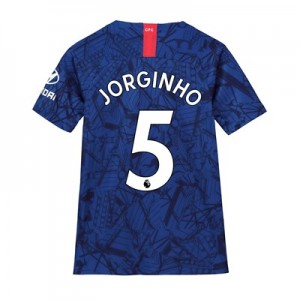 Chelsea Home Stadium Shirt 2019-20 - Kids with Jorginho 5 printing