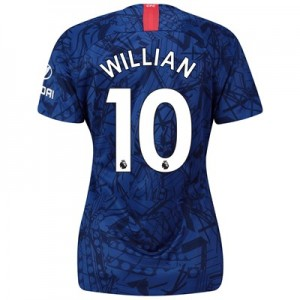 Chelsea Home Stadium Shirt 2019-20 - Womens with Willian 10 printing