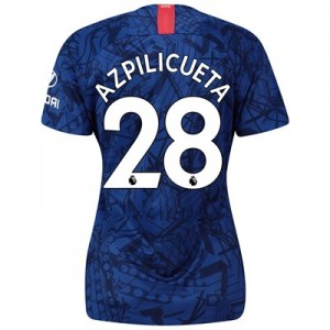 Chelsea Home Stadium Shirt 2019-20 - Womens with Azpilicueta 28 printing