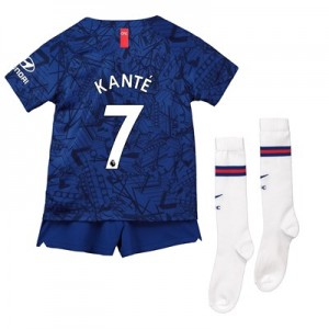 Chelsea Home Stadium Kit 2019-20 - Little Kids with Kanté 7 printing