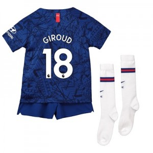 Chelsea Home Stadium Kit 2019-20 - Little Kids with Giroud 18 printing