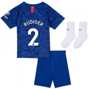 Chelsea Home Stadium Kit 2019-20 - Infants with Rüdiger 2 printing