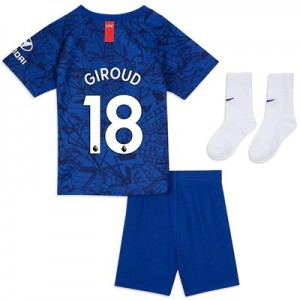 Chelsea Home Stadium Kit 2019-20 - Infants with Giroud 18 printing
