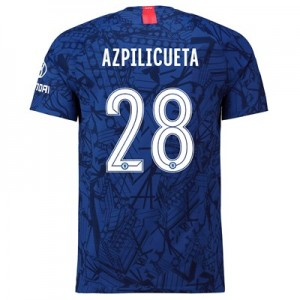 Chelsea Home Cup Vapor Match Shirt 2019-20 with Azpilicueta 28 printing