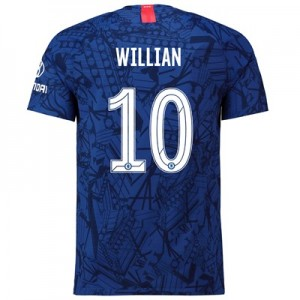 Chelsea Home Cup Vapor Match Shirt 2019-20 with Willian 10 printing