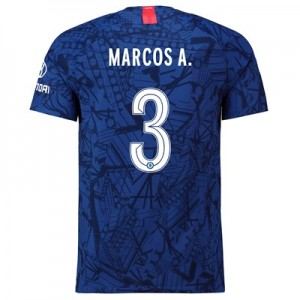 Chelsea Home Cup Vapor Match Shirt 2019-20 with Marcos A. 3 printing