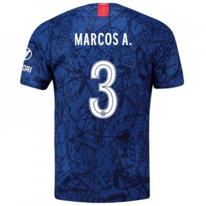 Chelsea Home Cup Stadium Shirt 2019-20 with Marcos A. 3 printing