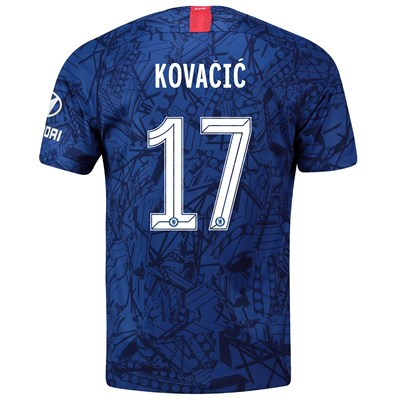 Chelsea Home Cup Stadium Shirt 2019-20 with Kovacic  17 printing