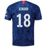 Chelsea Home Cup Stadium Shirt 2019-20 with Giroud 18 printing