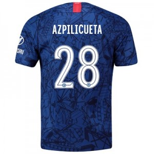 Chelsea Home Cup Stadium Shirt 2019-20 with Azpilicueta 28 printing