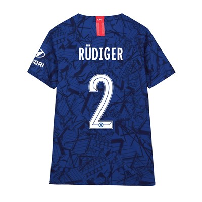 Chelsea Home Cup Vapor Match Shirt 2019-20 - Kids with Rüdiger 2 printing