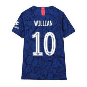 Chelsea Home Cup Vapor Match Shirt 2019-20 - Kids with Willian 10 printing