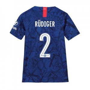 Chelsea Home Cup Stadium Shirt 2019-20 - Kids with Rüdiger 2 printing
