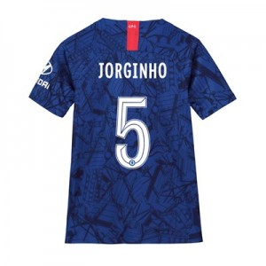 Chelsea Home Cup Stadium Shirt 2019-20 - Kids with Jorginho 5 printing