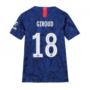 Chelsea Home Cup Stadium Shirt 2019-20 - Kids with Giroud 18 printing