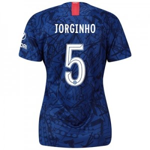 Chelsea Home Cup Stadium Shirt 2019-20 - Womens with Jorginho 5 printing