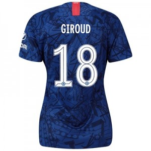 Chelsea Home Cup Stadium Shirt 2019-20 - Womens with Giroud 18 printing
