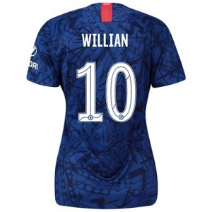 Chelsea Home Cup Stadium Shirt 2019-20 - Womens with Willian 10 printing